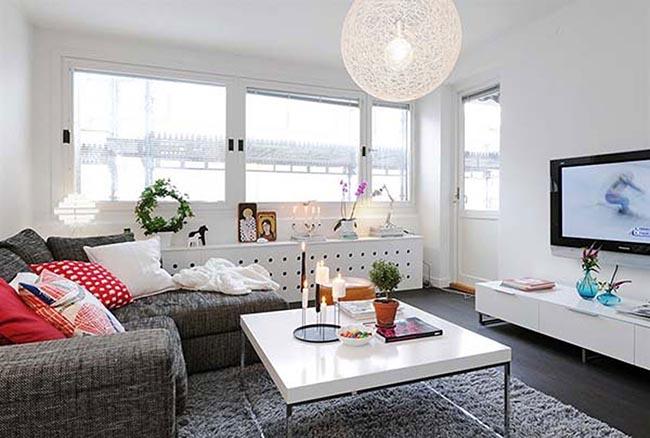 Естественное освещение в однокомнатной квартире