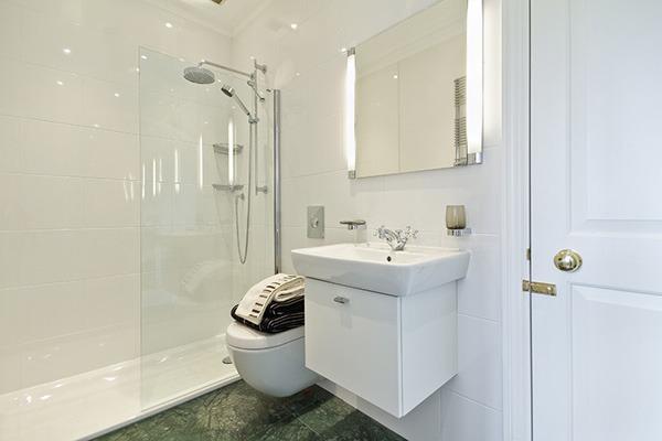 Оформление и цвет ванной с душевой