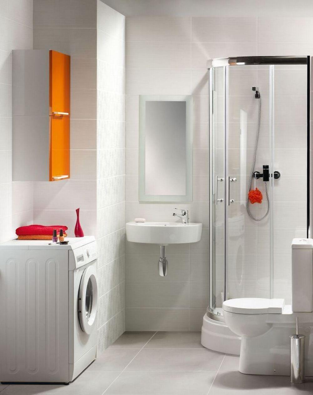 Удобное размещение стиральной машины в ванной комнате