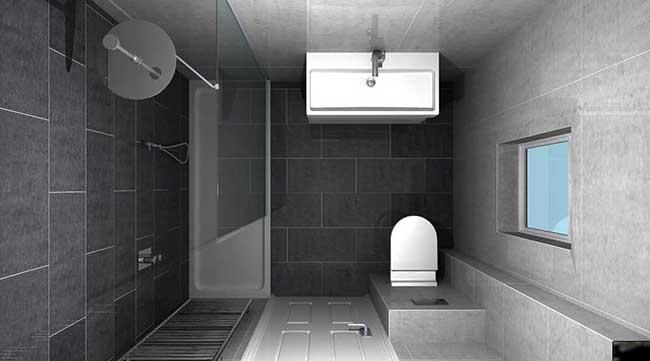 Окно в ванной минимализм