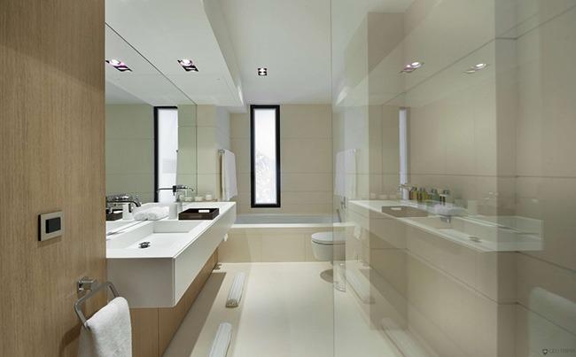 Вариант дизайна ванной с окном