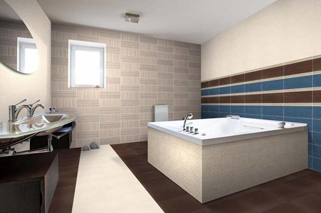 Ванная в стиле минимализм с окном