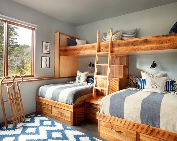 Кроватки деревянные стилизованные