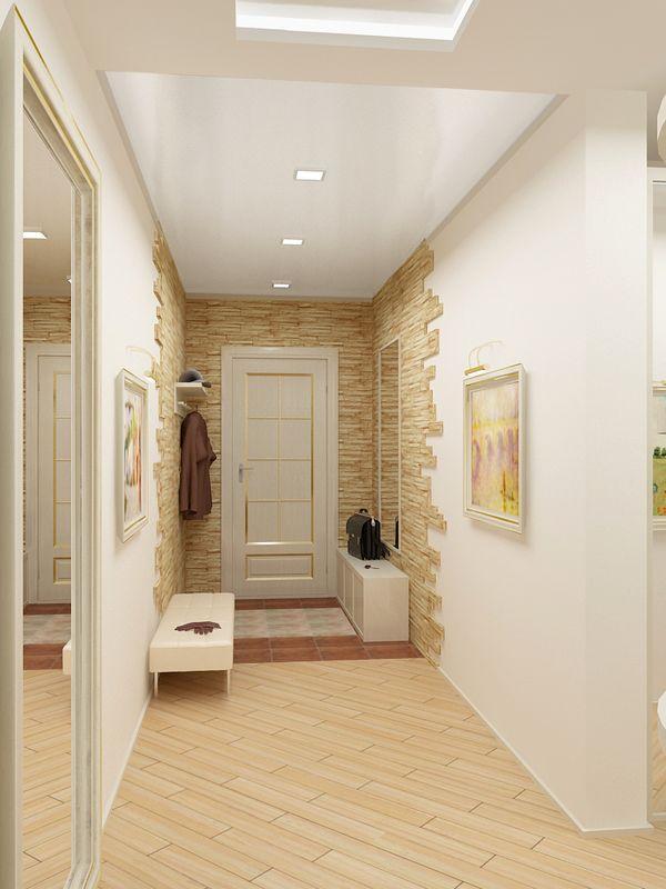 Отделка  входного коридора камнем