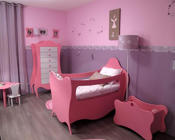Детская для девочки с розовой люлькой