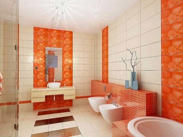 Туалет оранжевый