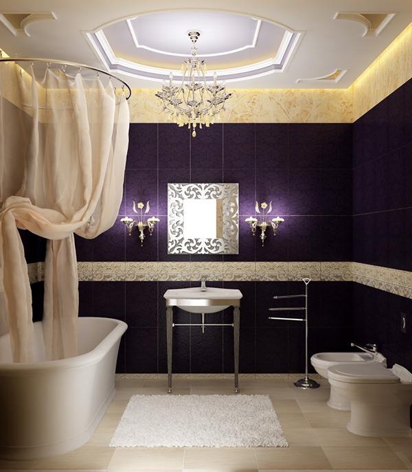 Ванная фиолетовая