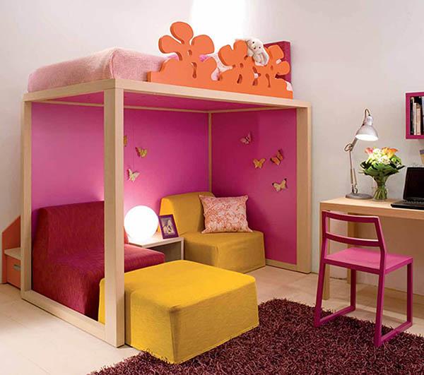 Детская для девочки с розовым уголком