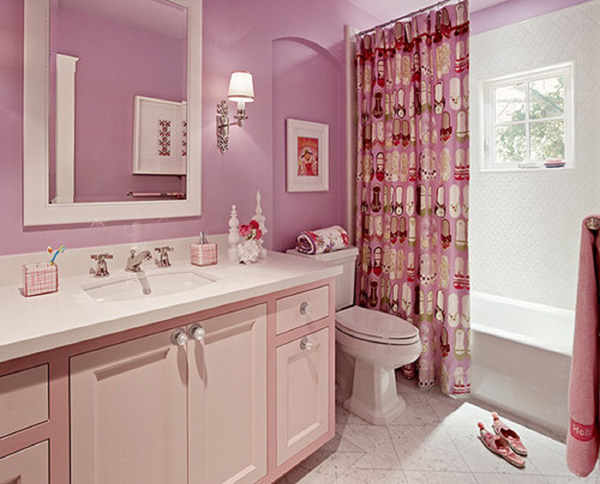 Ванная розовая