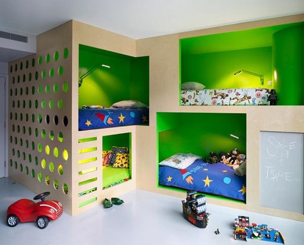 Детская комната зонированная