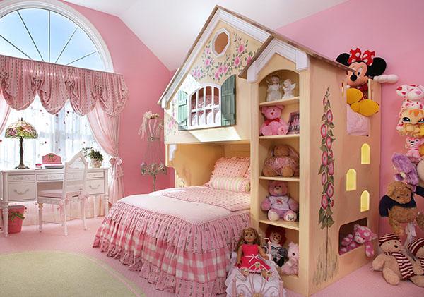 Детская для девочки с домиком