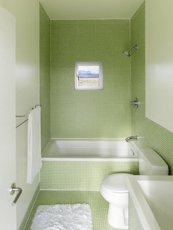 Ванная зеленоватая
