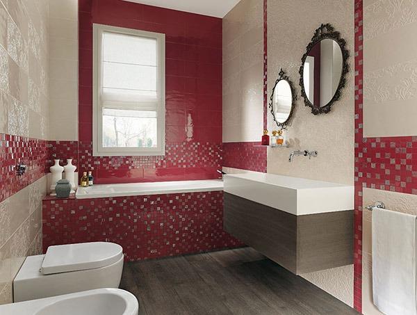 Ванная красноватая