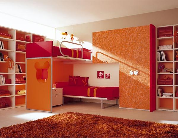 Детская на двоих оранжевая
