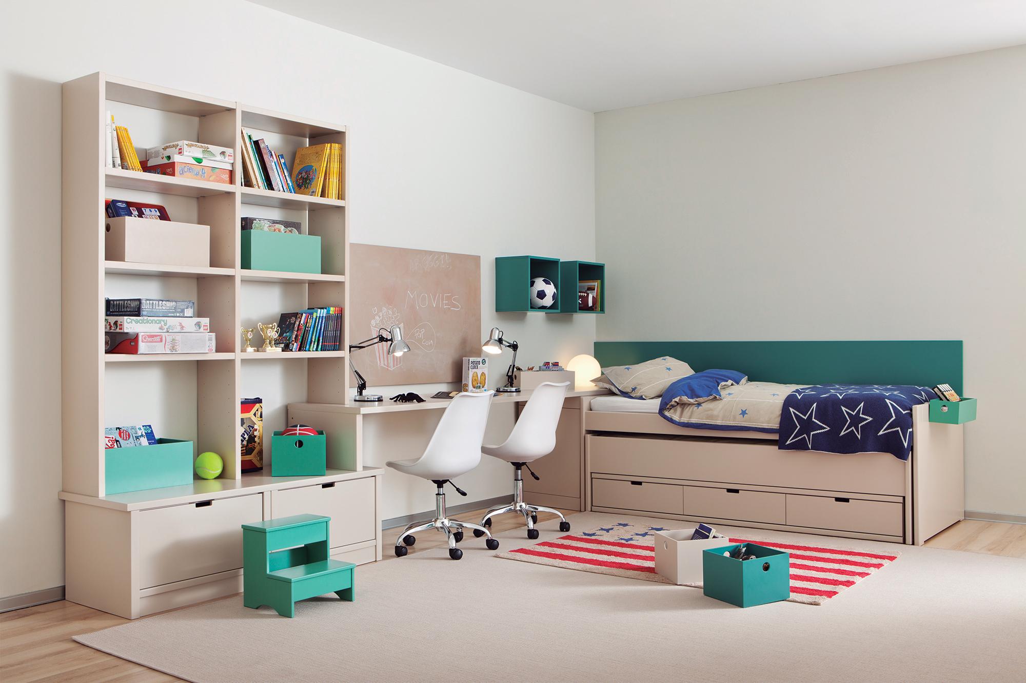 Эконом дизайн детской комнаты с мебелью