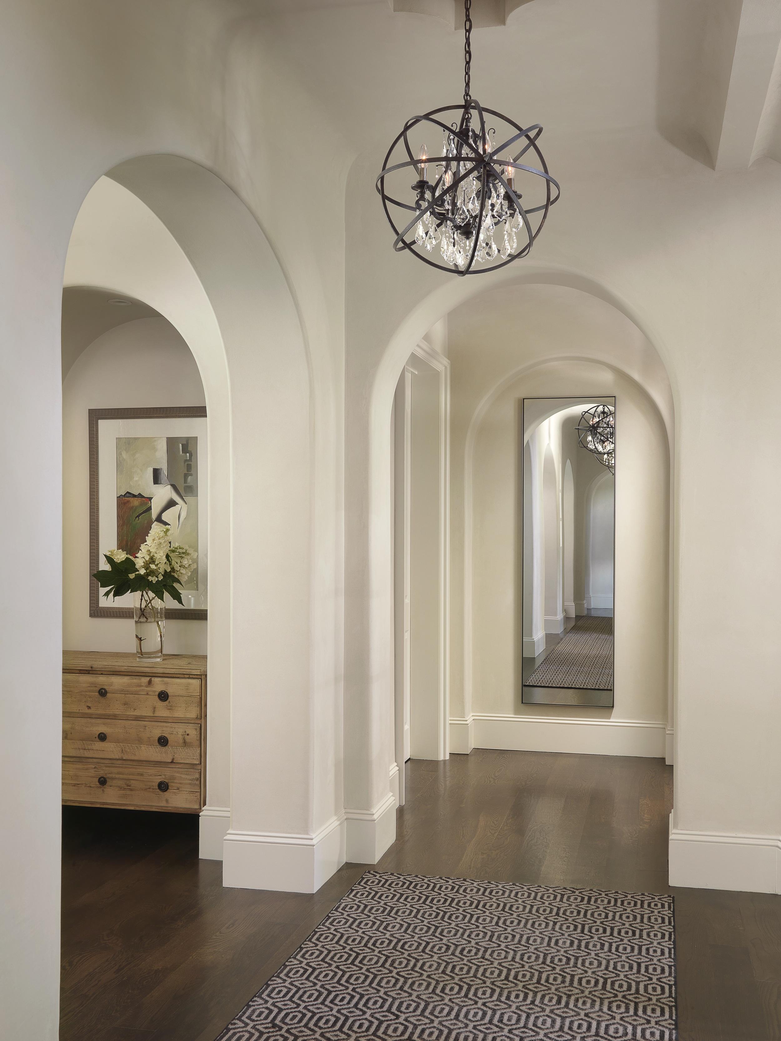 Дизайн коридора с аркой простой