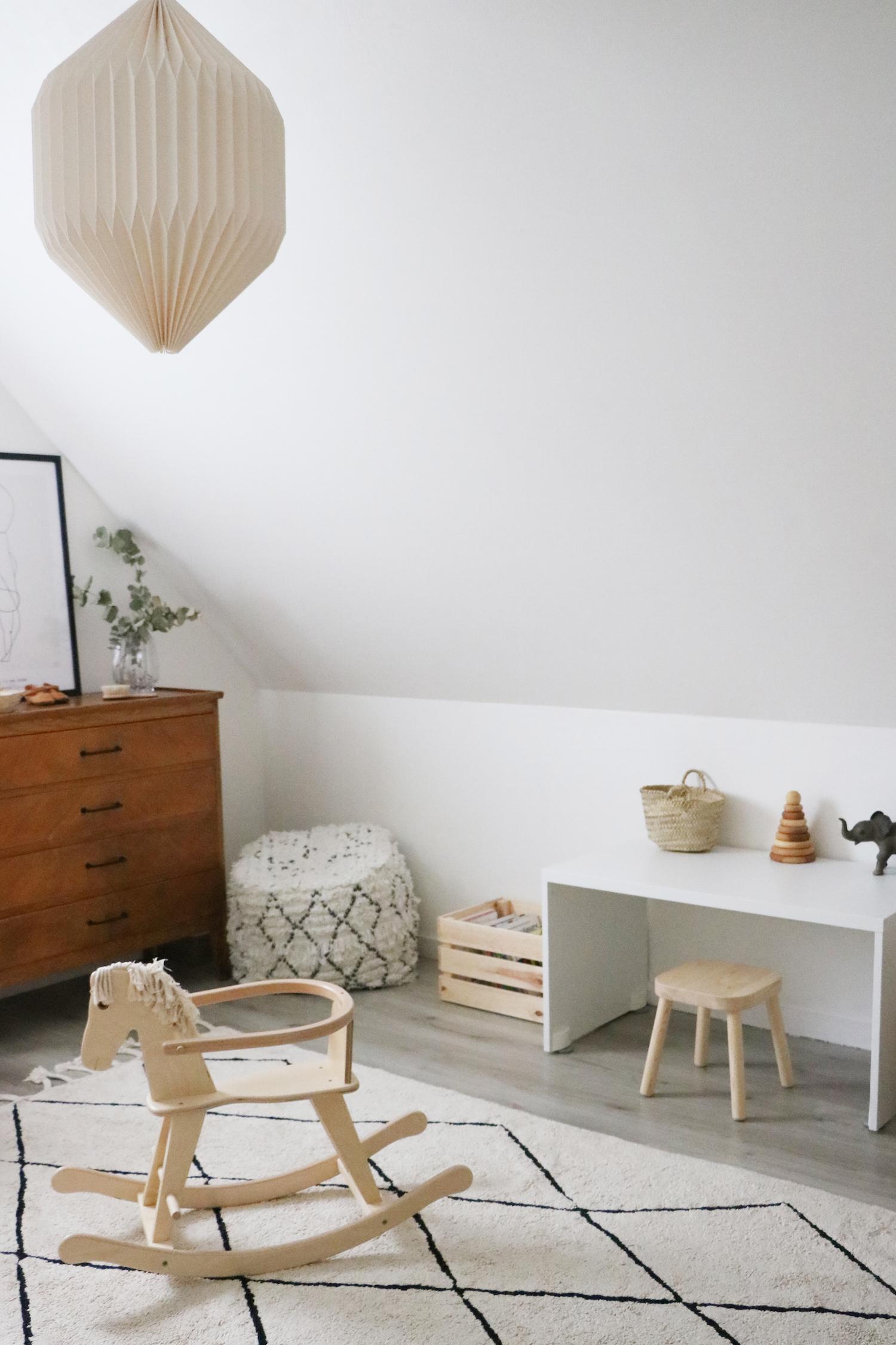 Эконом дизайн детской комнаты в стиле ретро