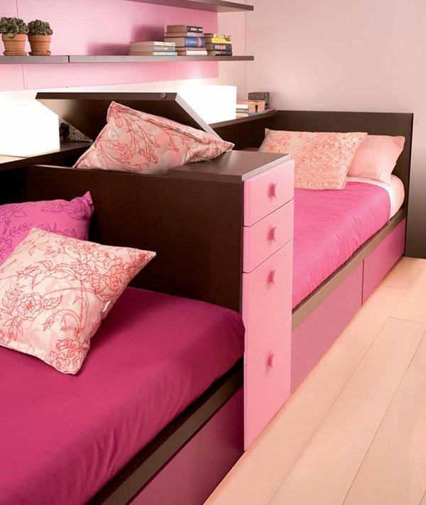Розовые кровати