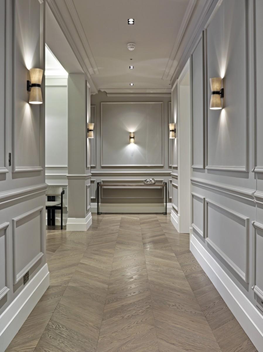 Отделка коридора панелями серыми