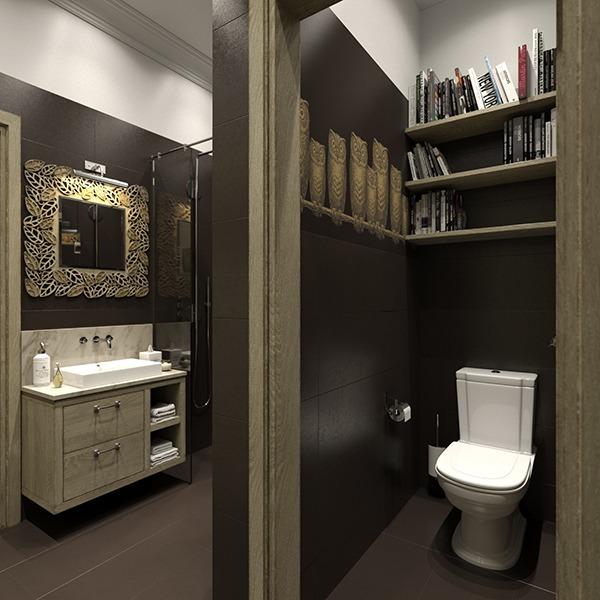 Туалет черный