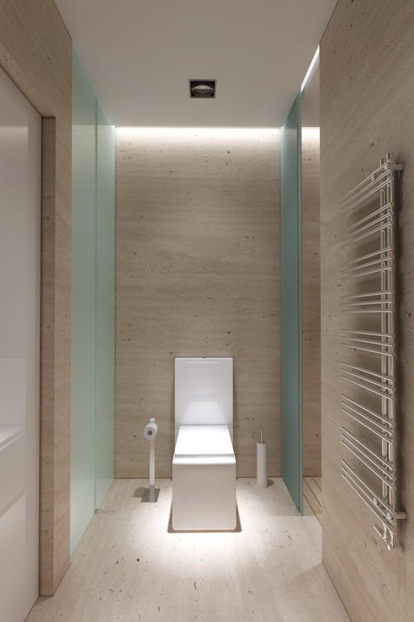 Туалет квадратный