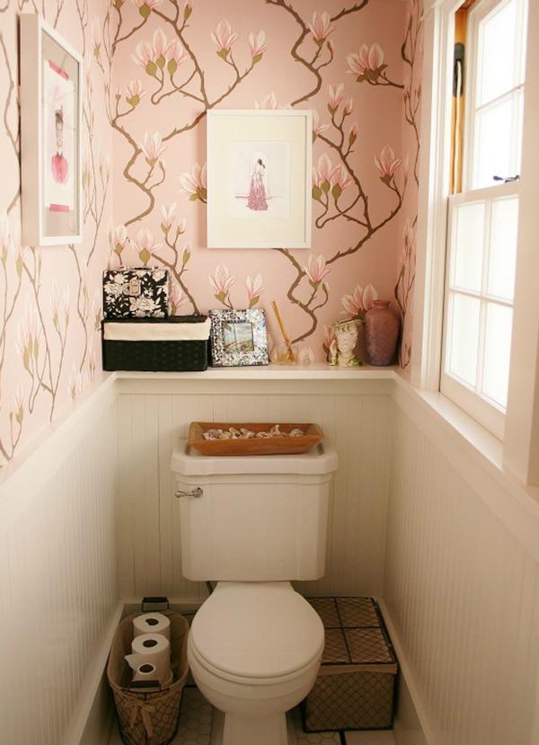 Туалет с декором