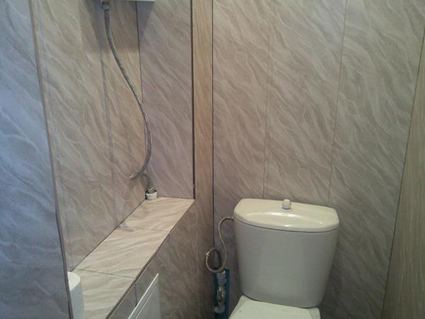 Туалет с панелями своими руками