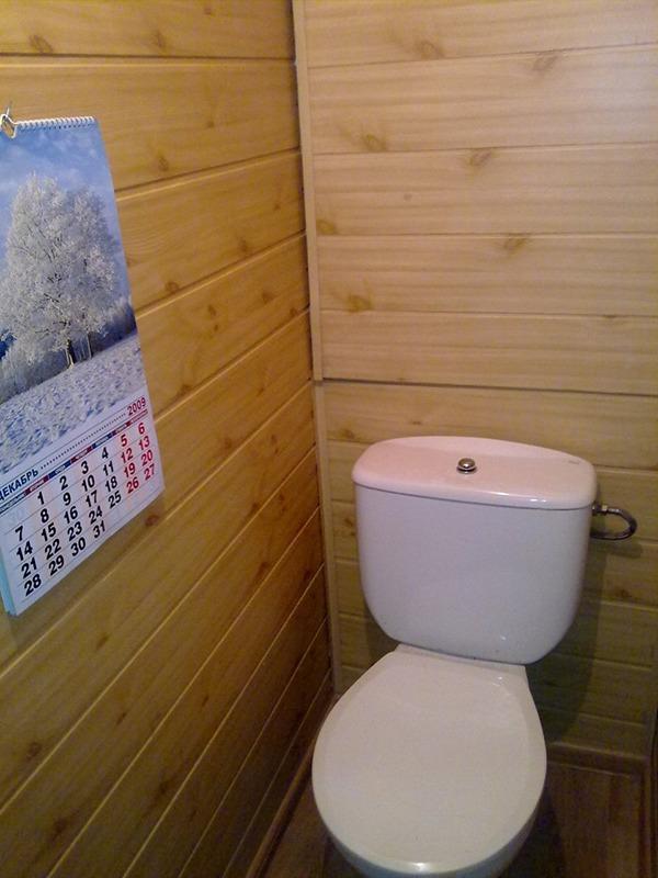 Туалет уютный