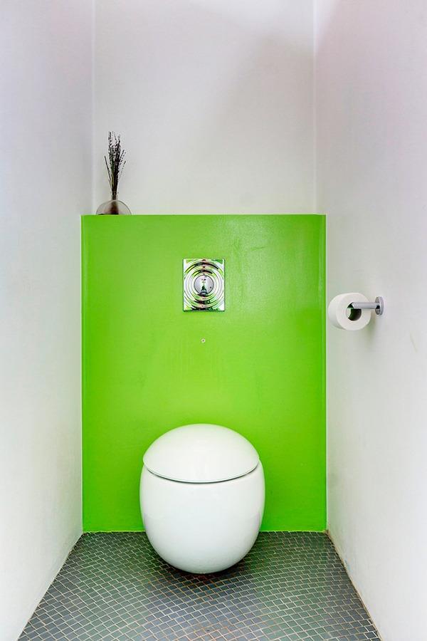 Туалет зеленый