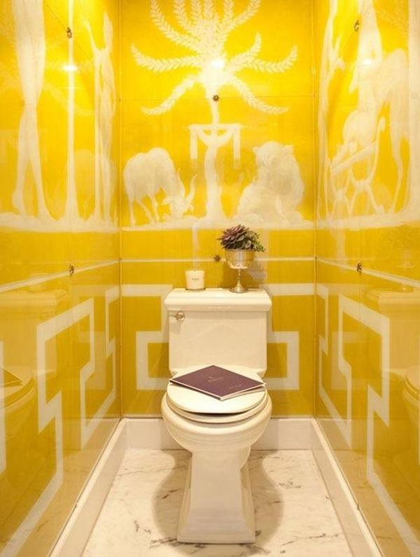 Туалет желтый