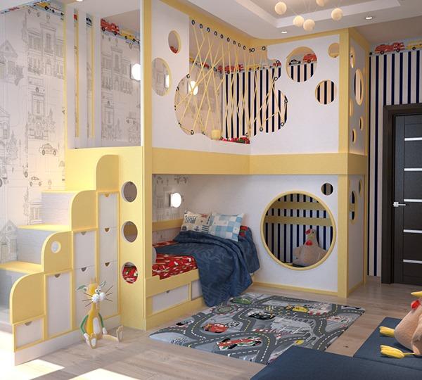 Комната для двух мальчиков дошкольного возраста