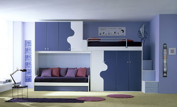 Комната для двух мальчиков в синих тонах