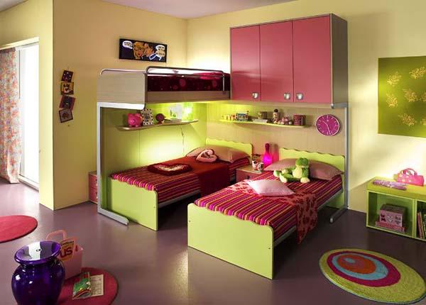 Дизайн детской для троих детей
