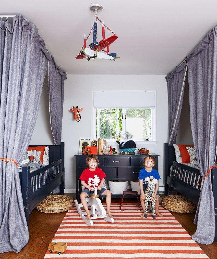 Детская комната для двух братьев