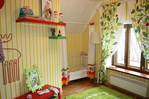Декор и Отделка Детской Комнаты на Даче, Примеры Интерьеров