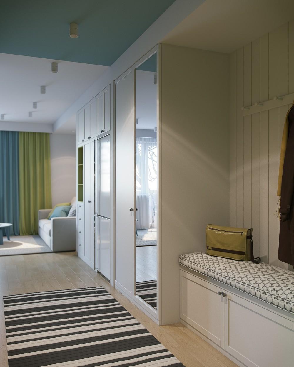 Оформление коридора с корпусной мебелью