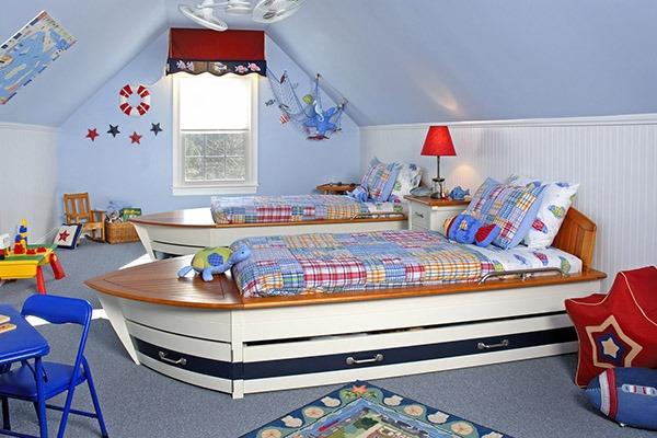 Интерьера детской в морском стиле
