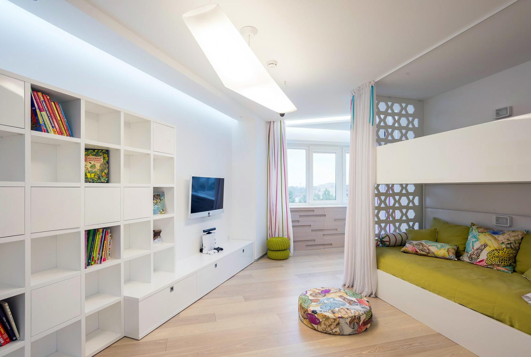 Дизайн детской комнаты для двух мальчиков в стиле минимализм