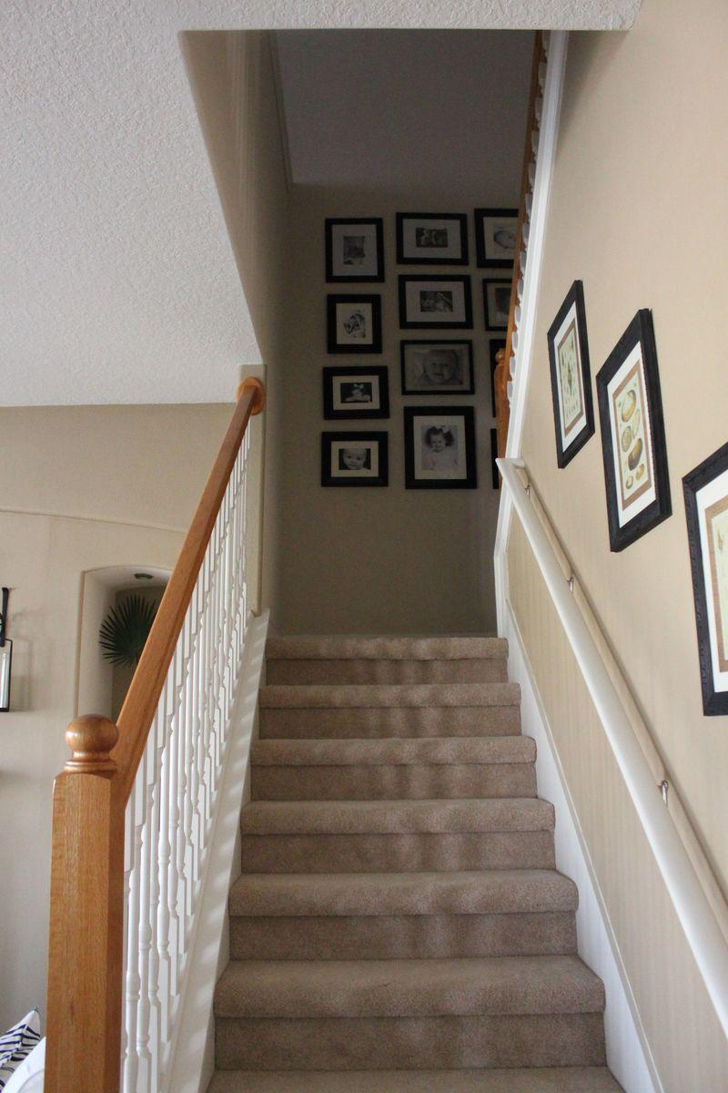Дизайн коридора с лестницей с ковровым покрытием