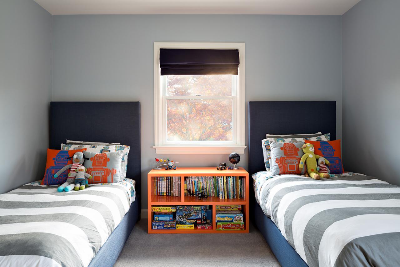 Дизайн детской комнаты для двух мальчиков простой