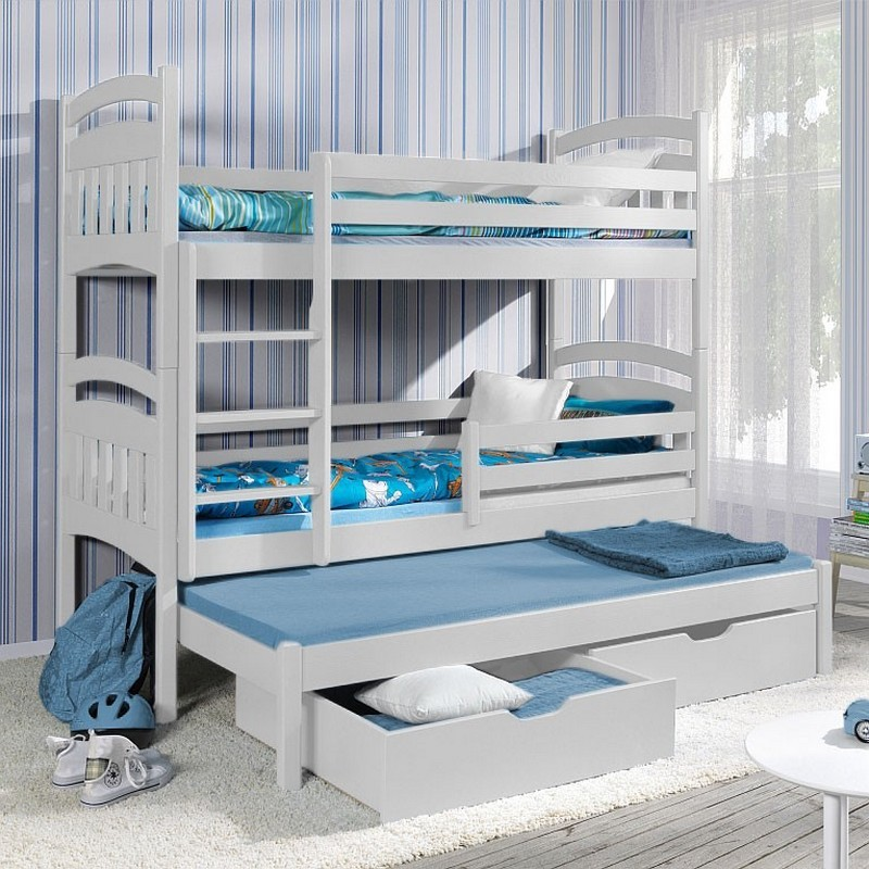 Детская для троих с раздвижной кроватью
