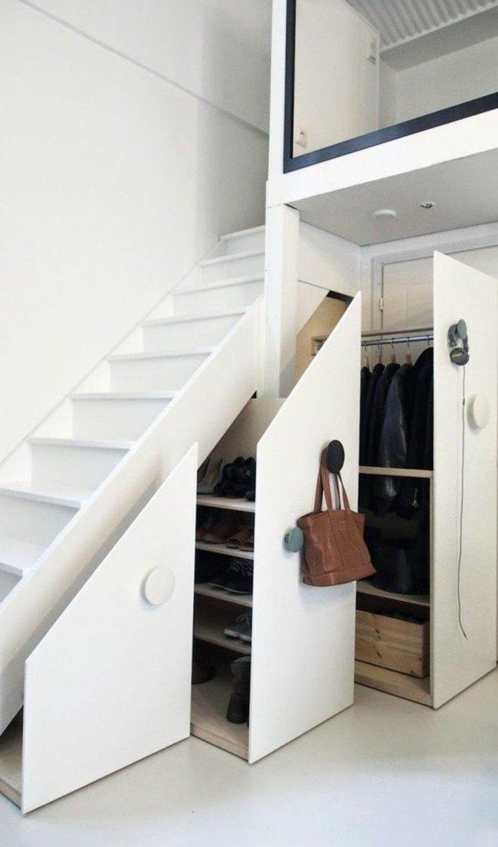 Дизайн коридора с лестницей трансформером