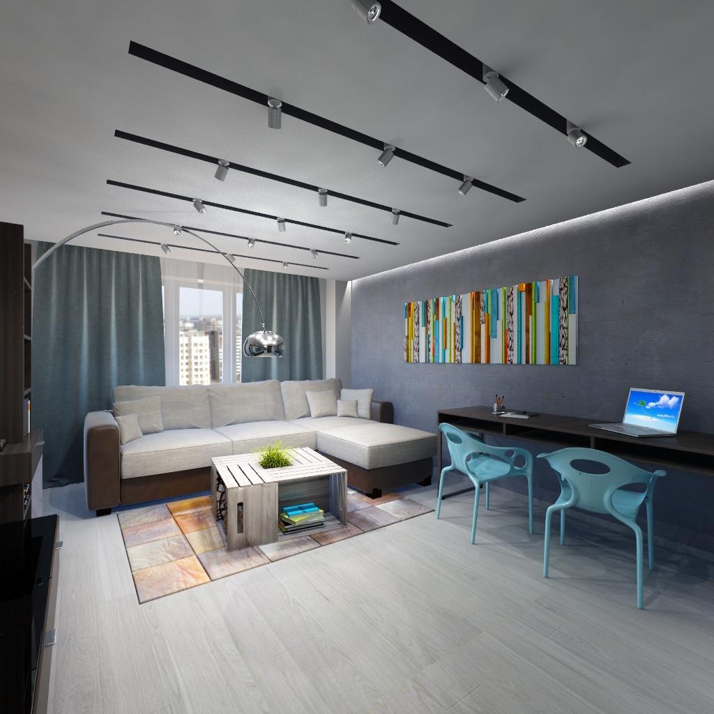 Проект квартиры в стилях лофт и индустриальный
