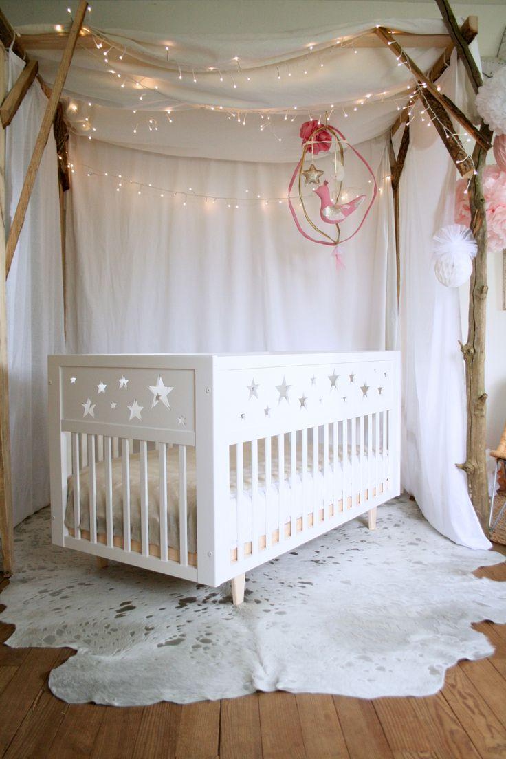 Декор детской кроватки звездами
