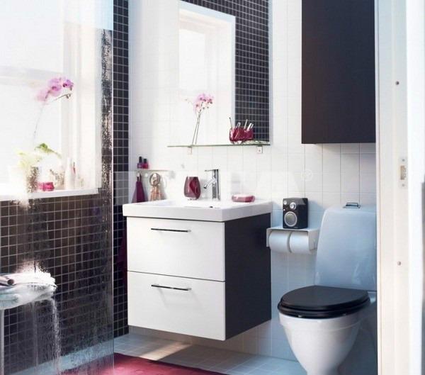 Декорирование маленького туалета и ванны