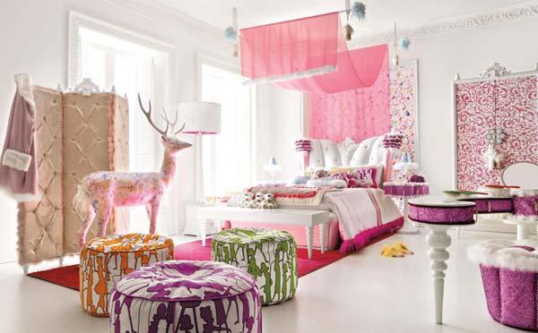 Декор в комнате для девочек