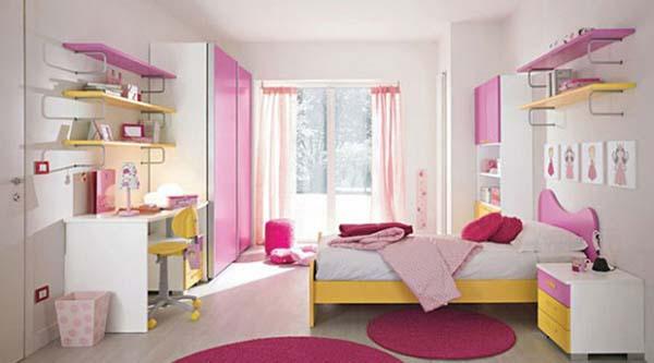 Дизайн и ремонт в детской комнате для девочек