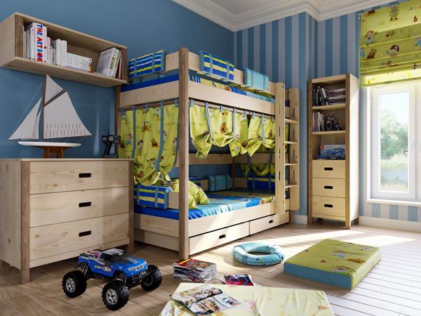 Дизайнерское оформление детской комнаты в 7 кв м