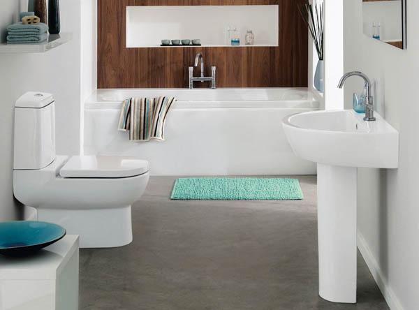 Декор в туалете маленького размера и в ванной комнате