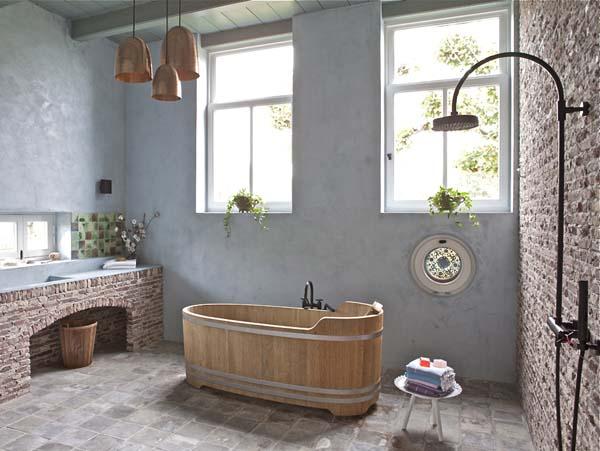 Дизайн туалета в деревянном доме